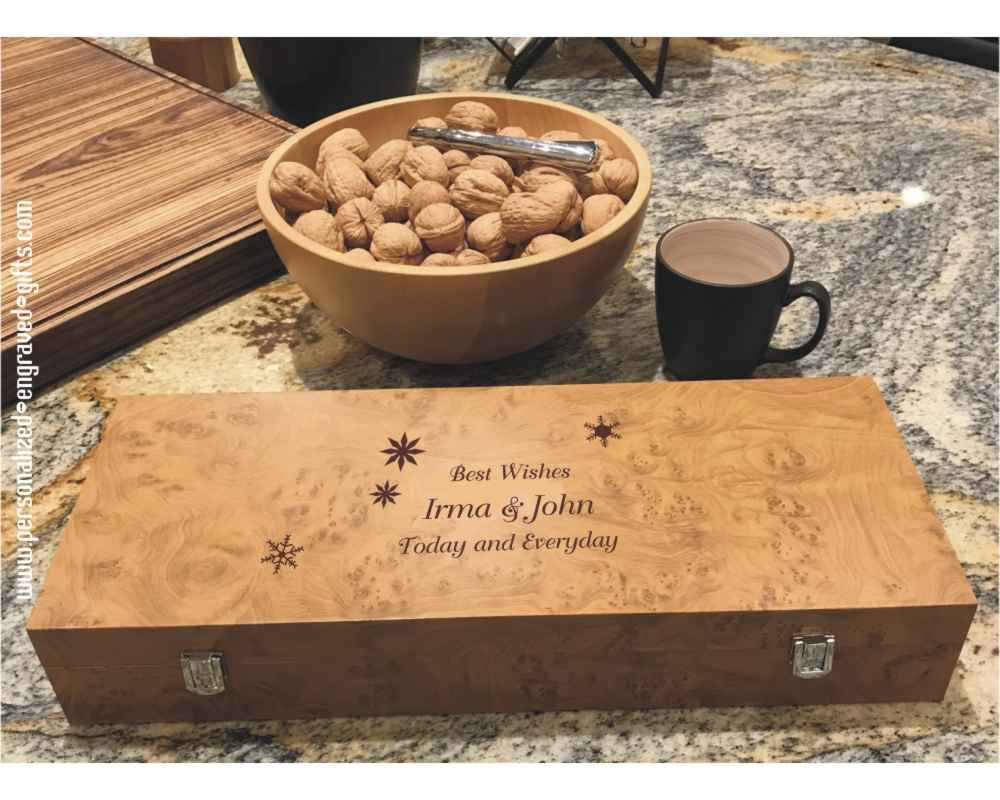 Personalized Tea Chest with Tea by Touch Organic 120