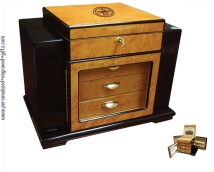 Engraved Two Tone Finish Humidor - Baron
