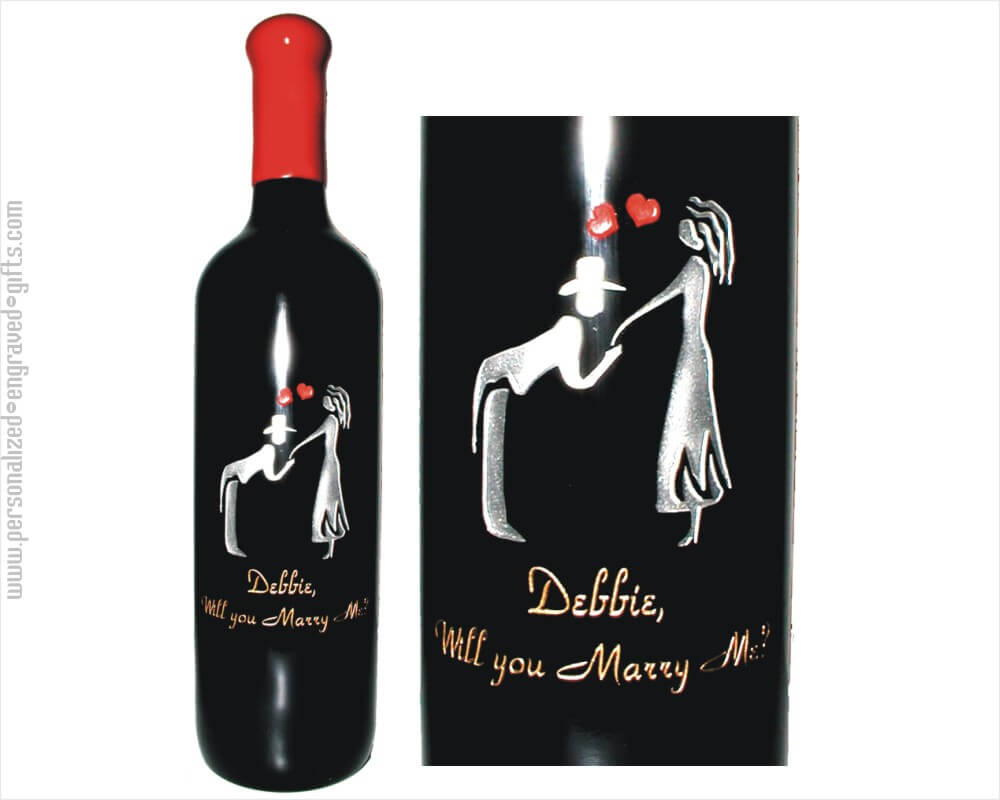 Proposing Man Kissing Hand Customized Bottle