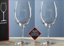 Customized Riedel Vinum Bordeaux Wine Glass