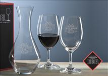 Engraved Riedel Ouverture Wine Set