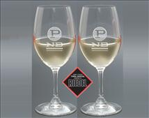 Engraved Riedel Ouverture White Wine Glass