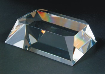 Engraved Clear Beveled Rectangular Base - Clear Base 2