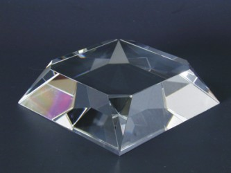 Engraved Clear Beveled Square Base - Clear Base 2
