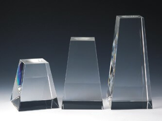 Engraved Crystal Clear Tower Bases - Clear Base 4