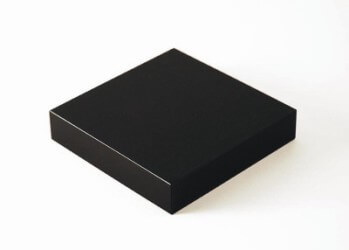 Engraved Black Low Square Crystal Base - Base 1