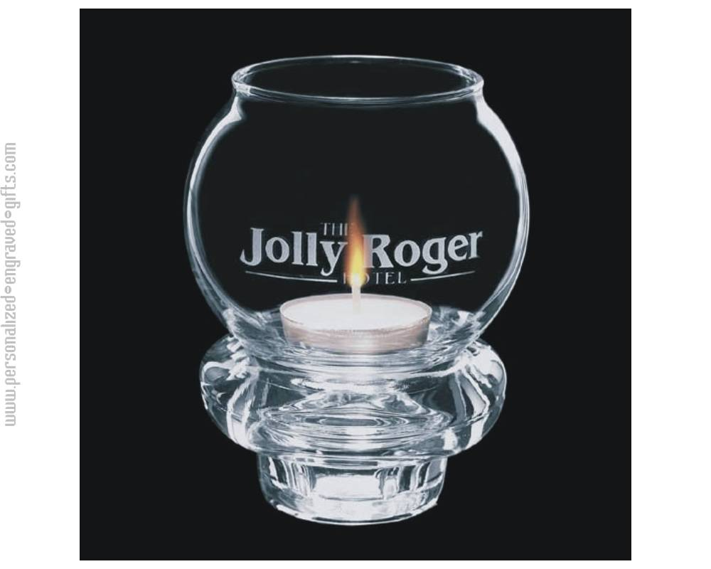 Personalized Glass Candle Holder...The Sizzle