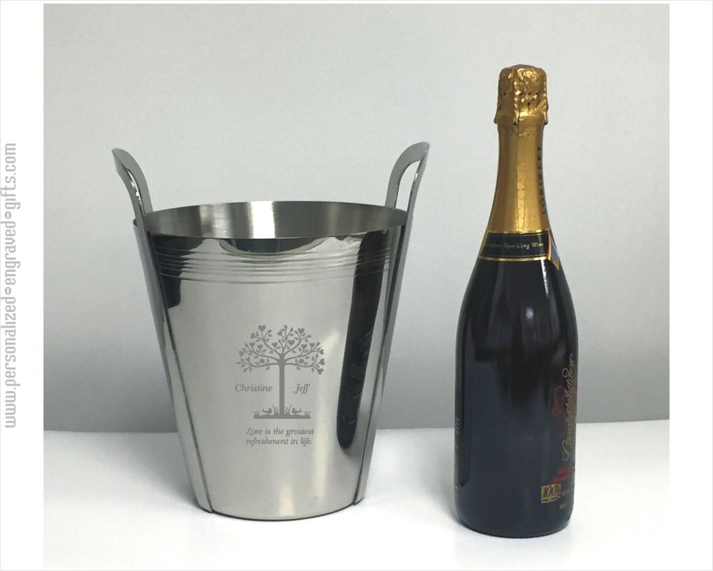 Stainless Steel Ice Bucket With Handles Romeo