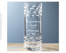 Modern Straight Sided Full Lead Crystal Vase - Kimbell