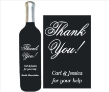 Engraved Wine Bottles - Thank You 1