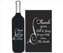 Engraved Wine Bottles - Thank You 2