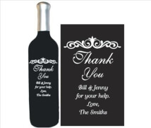 Engraved Wine Bottles - Thank You 4
