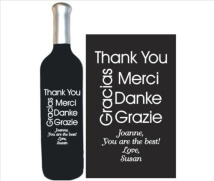 Engraved Wine Bottles - Thank You 3