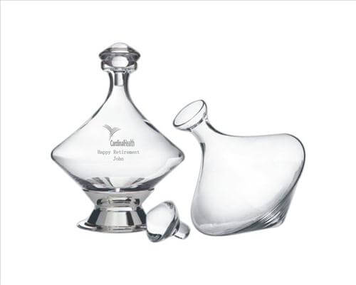 60oz Orbital Wine Decanter with Base and Stopper