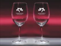 Engraved Bordeaux Wine Glasses 24oz - Set of Two