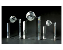 Crystal Globe Diagonal Award