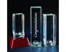 Engraved Crystal World Tower Award