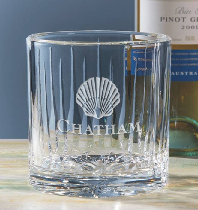 Engraved Crystal Wine Caddy - Deco