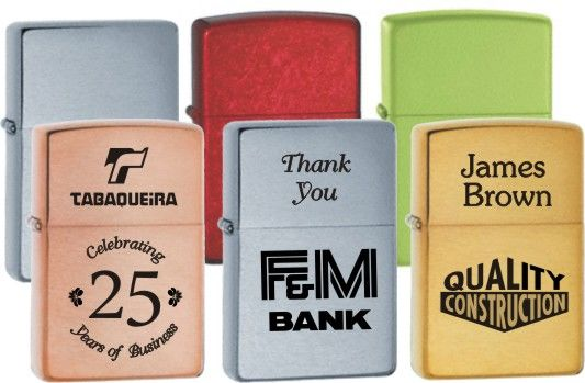 Engraved Zippo Lighters