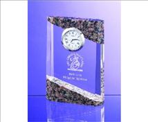 Engraved Granite and Crystal Desktop Clock