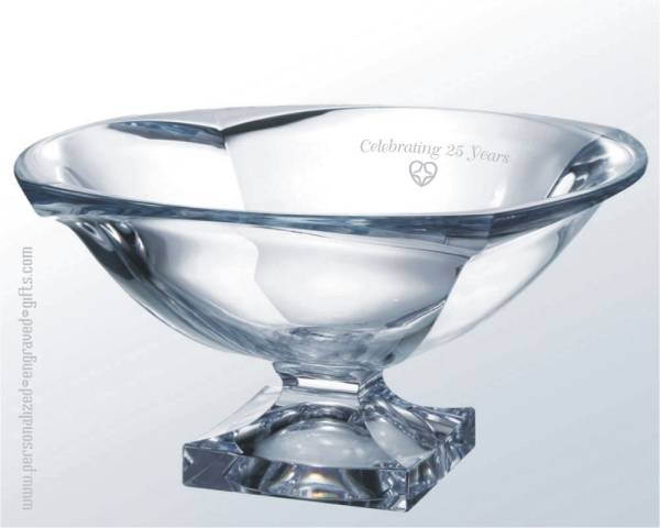 Crystal Legacy Pedestal Bowl Custom Engraved