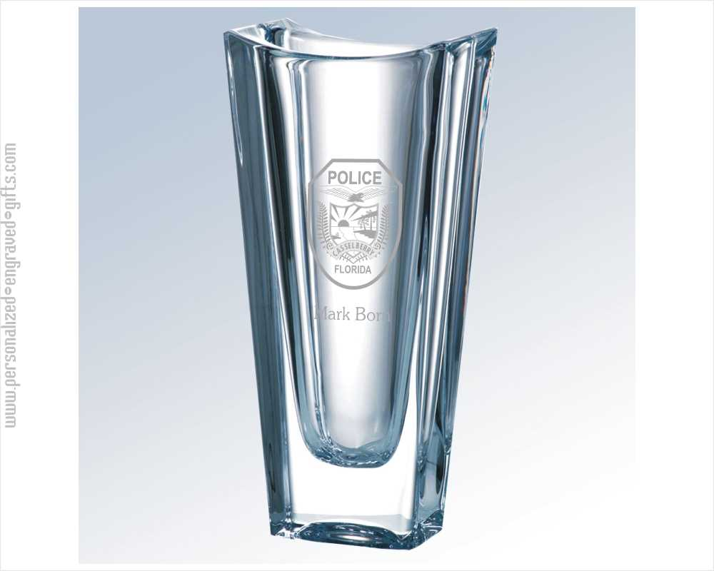 Tapered 10 inch Heavy Crystal Vase - Faye