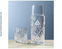 Personalized Engraved 2-Piece 20oz Crystal Water Set