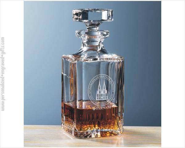 Lead Crystal Decanter Engraved Primo