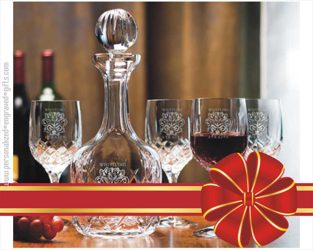 24% Hand-Cut Crystal Wine Decanter Set -The Lokey