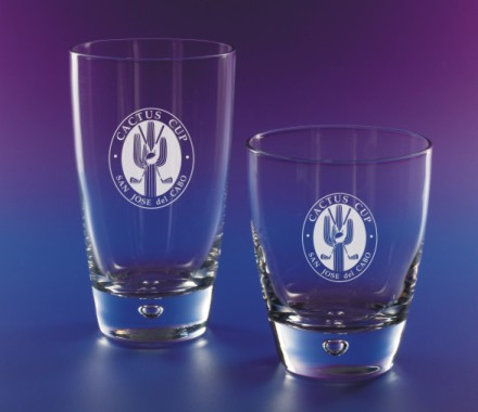 Tapered Beverage & Rocks Glasses with Delightful Bubble