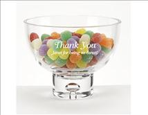 Playful Bubble Engraved Glass Pedestal Bowl