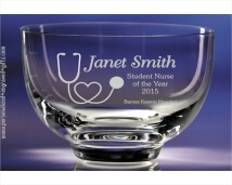 Sparkling Personalized Glass Bowl - Très Chic