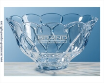 An Elegant Birthday Gift a Crystal Bowl with Scalloped Rim