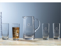 Ice Tea Tankard with 4 Glasses Gift Set Custom Engraved