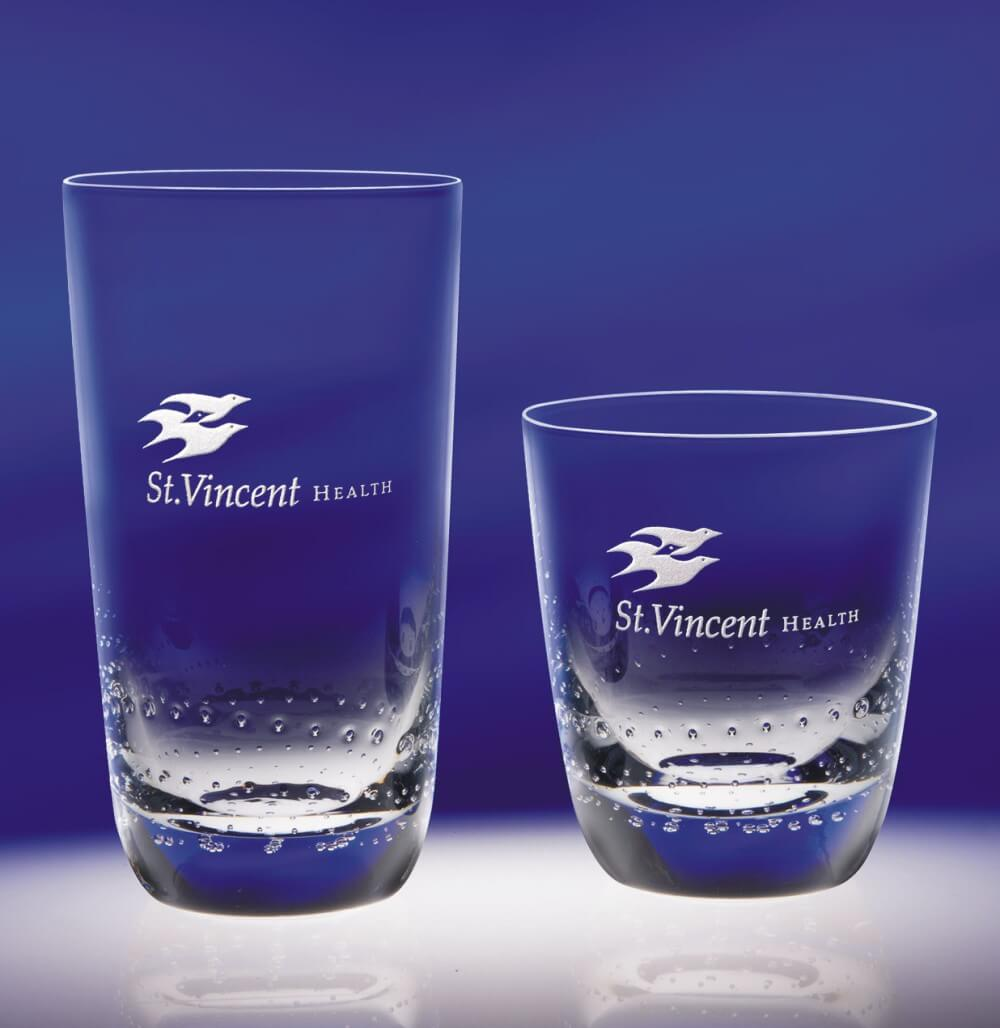 Personalized On the Rocks & Beverage Glasses - Fiore