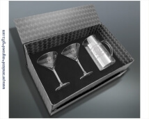 Martini Gift Set - Engraved Pitcher with 2 Glasses