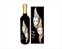 Custom Engraved Wine Bottles - Mask 2