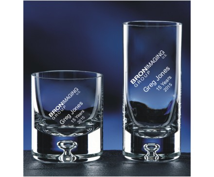 Crystal Rocks & Hiball Glasses with Distinctive Bubble Base