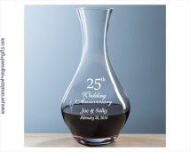 Personalized Glass Decanter - 32 oz Volpe