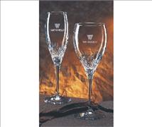 Engraved Crystal Nuance Flutes & Wine Glasses (Set of 2) engraved with your text