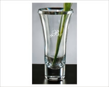 Thick Beveled 11 inch Glass Vase a Classic Beauty