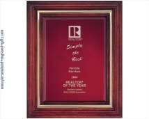 Laser Engraved Cherry Award Plaque