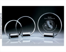 Engraved Crystal Circle Plaque