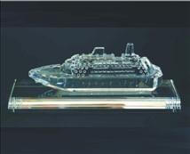 Engraved Crystal Cruise Ship Award