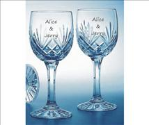 Engraved Crystal Wine Glasses(Set of 2) - Bartel