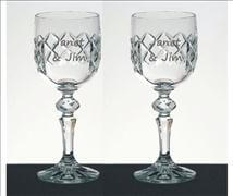 Engraved Crystal Wine Glass- Moyola