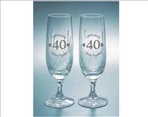 Engraved Crystal Flutes (Set of 2) - Bartel