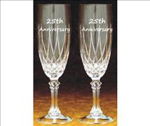 Engraved Crystal Flutes (Set of 2) - Massalia