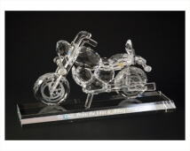 Customized Crystal Classic Motorcycle Figure Award