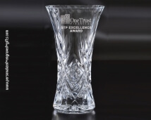 Pineapple Cut Glass Vase Designed for Engraving